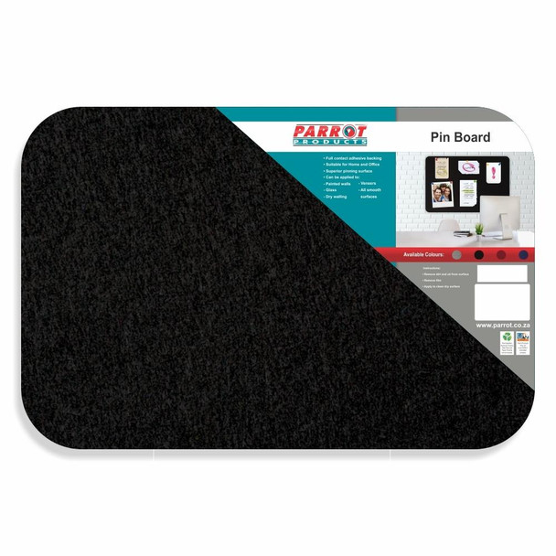 Adhesive Pin Board No Frame - 600450mm - Black