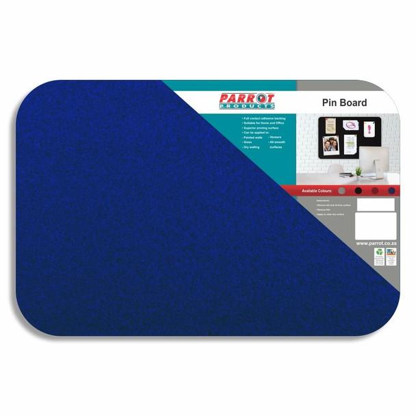 Adhesive Pin Board No Frame - 600450mm - Blue