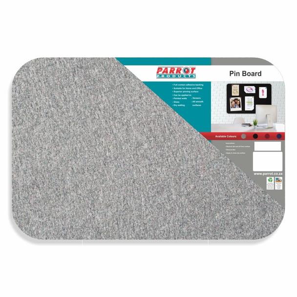 Adhesive Pin Board No Frame - 900600mm - Grey
