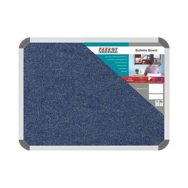 Bulletin Board Ribbed Aluminium Frame 600x450mm - Denim