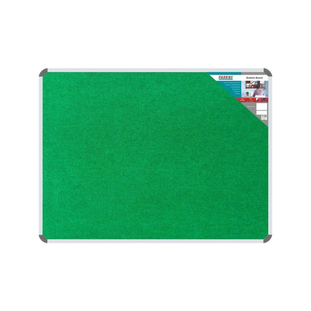 Bulletin Board Ribbed Aluminium Frame 600x450mm - Palm