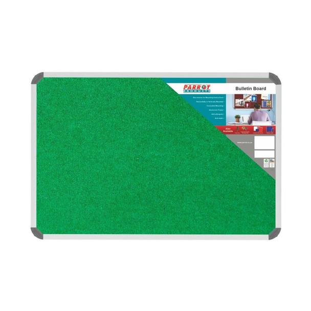 Bulletin Board Ribbed Aluminium Frame 900x600mm - Palm