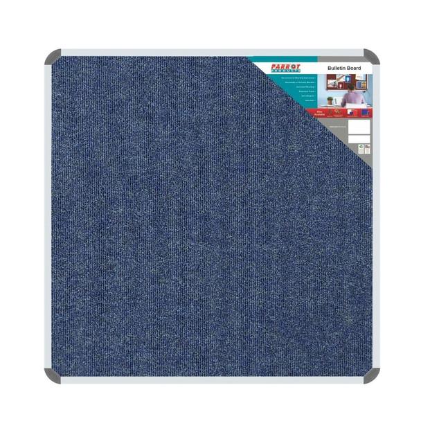 Bulletin Board Ribbed Aluminium Frame 1000x1000mm - Denim
