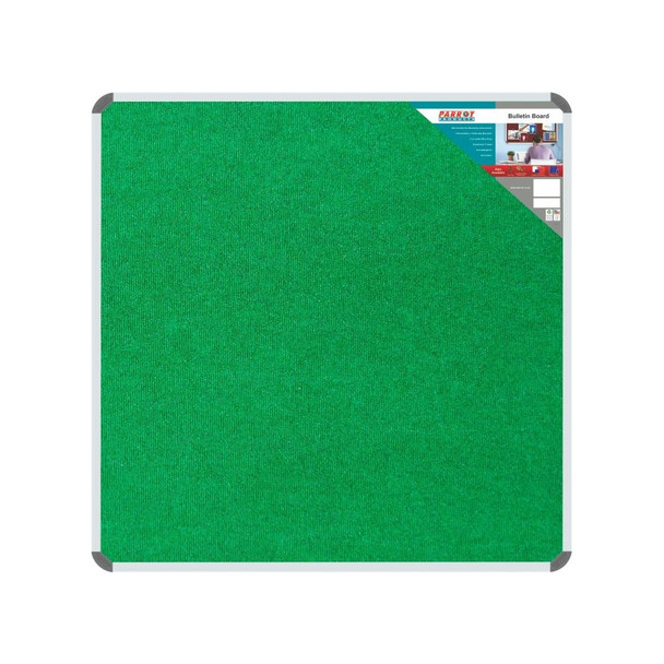 Bulletin Board Ribbed Aluminium Frame 1000x1000mm - Palm