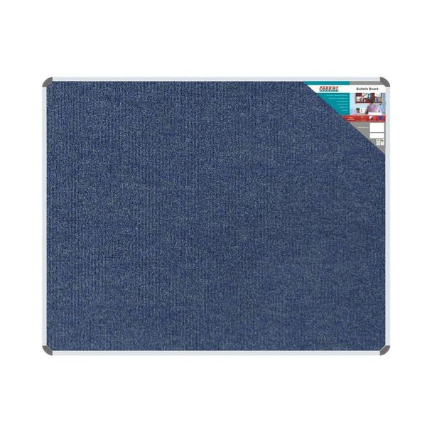 Bulletin Board Ribbed Aluminium Frame 1500x1200mm - Denim