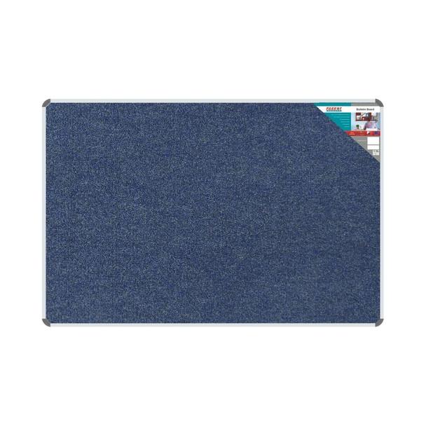 Bulletin Board Ribbed Aluminium Frame 1800x1200mm - Denim