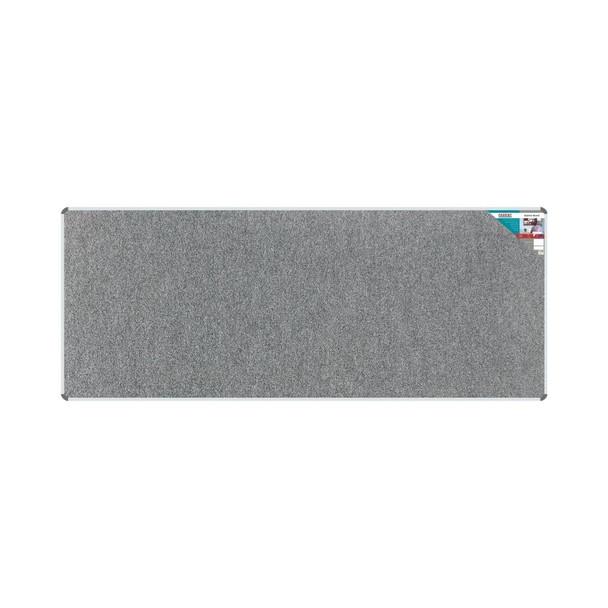 Bulletin Board Ribbed Aluminium Frame 3000x1200mm - Laurel