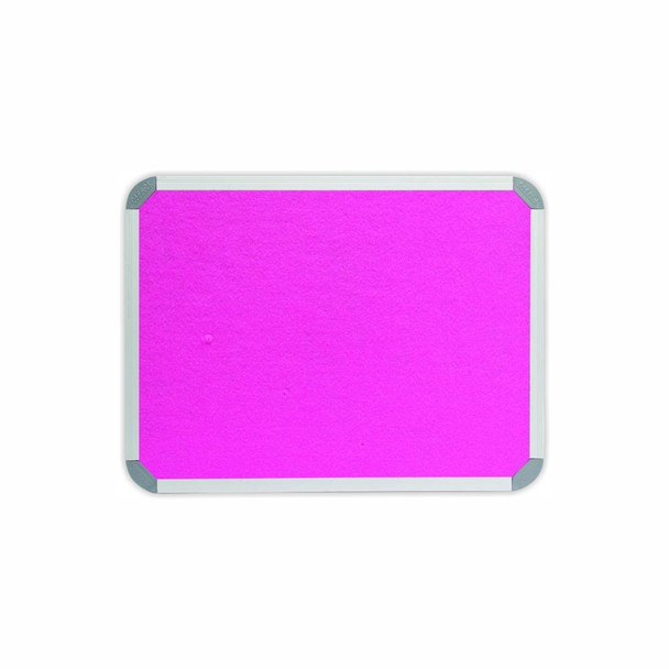 Info Board Aluminium Frame - 600450mm - Pink
