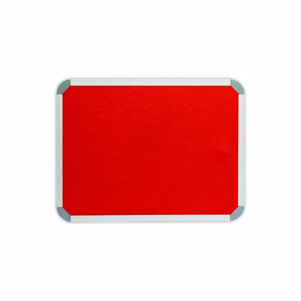 Info Board Aluminium Frame - 600450mm - Red