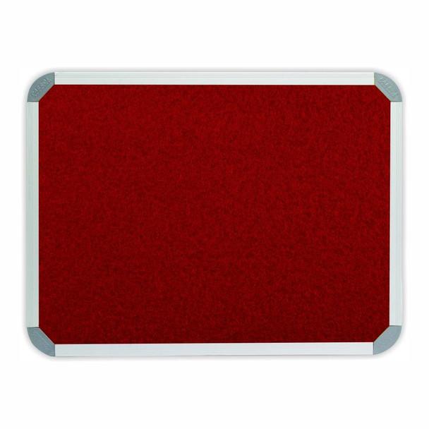 Info Board Aluminium Frame - 900600mm - Burgandy