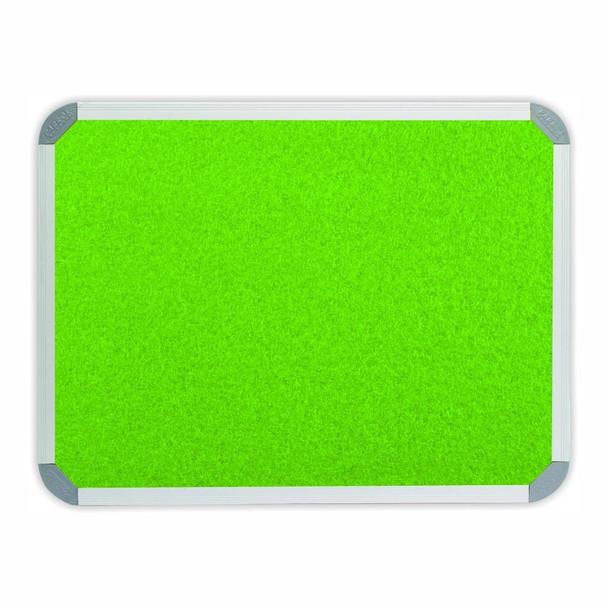Info Board Aluminium Frame - 900900mm - Lime Green