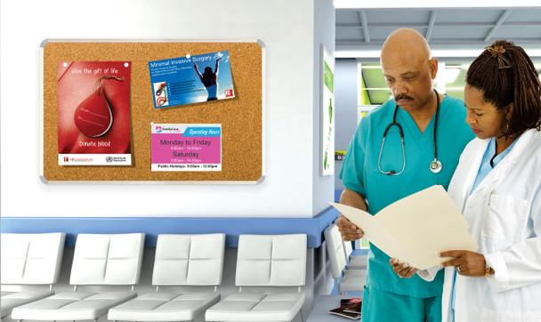 Info Board Aluminium Frame - 900900mm - Green