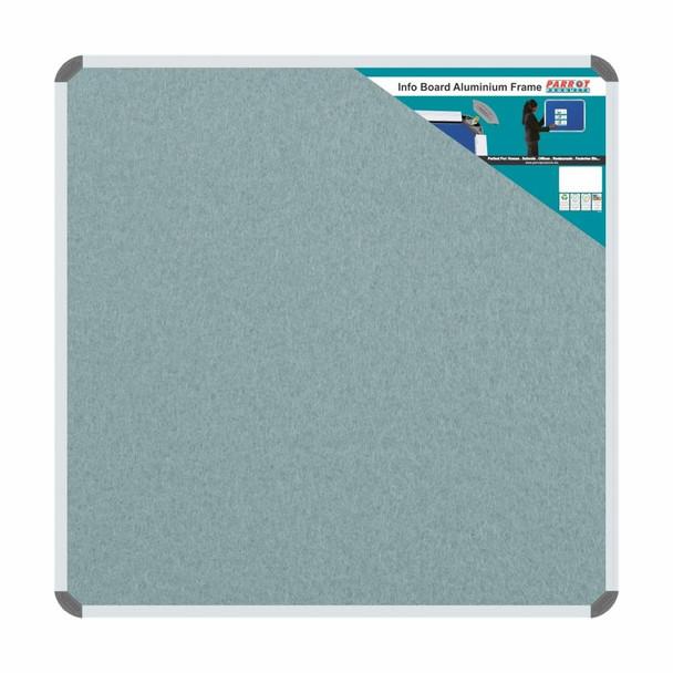Info Board Aluminium Frame - 900900mm - Grey