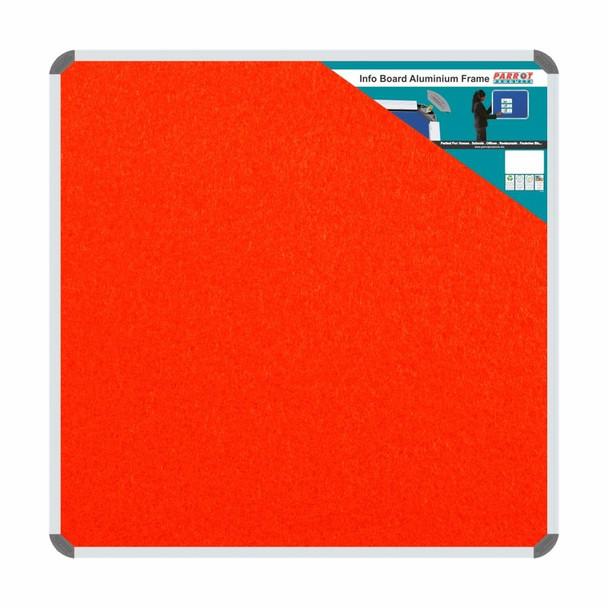 Info Board Aluminium Frame - 900900mm - Burnt Orange