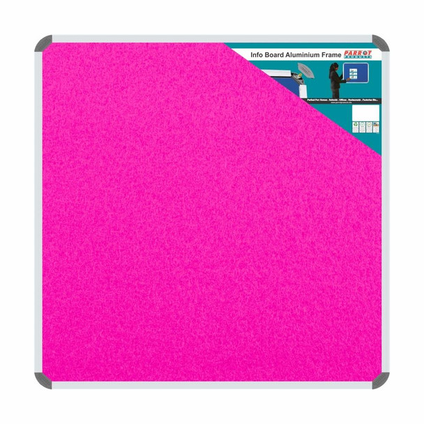 Info Board Aluminium Frame - 900900mm - Pink