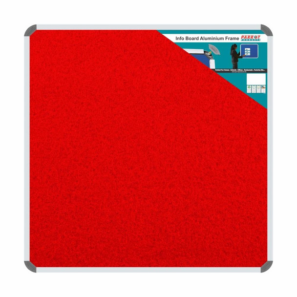 Info Board Aluminium Frame - 900900mm - Red