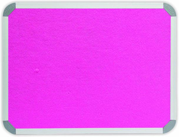 Info Board Aluminium Frame - 1200900mm - Pink