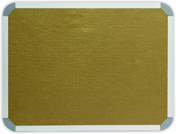 Info Board Aluminium Frame - 10001000mm - Beige