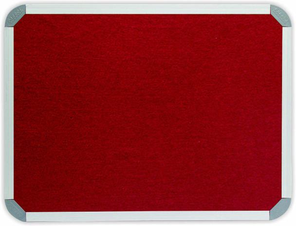 Info Board Aluminium Frame - 10001000mm - Burgandy