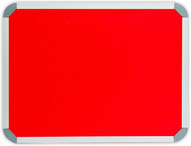 Info Board Aluminium Frame - 12001000mm - Red