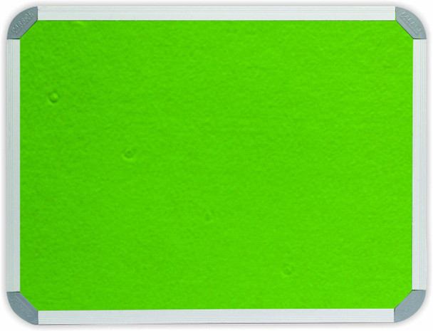 Info Board Aluminium Frame - 18001200mm - Lime Green