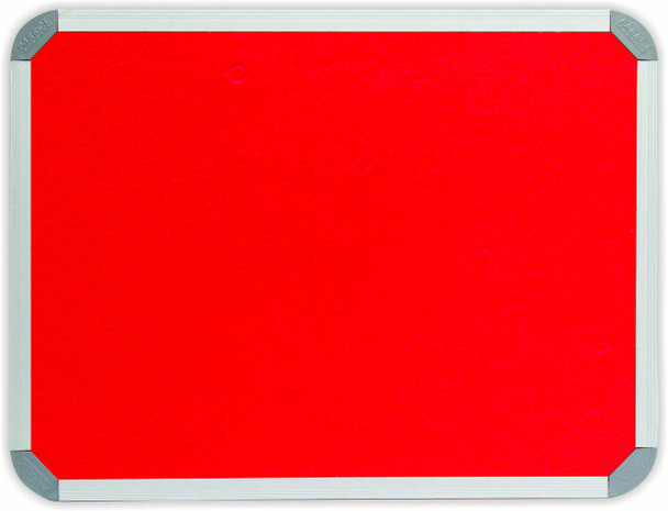 Info Board Aluminium Frame - 240012000mm - Red