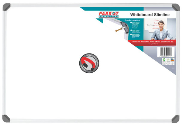 Slimline Magnetic Whiteboard 900600mm