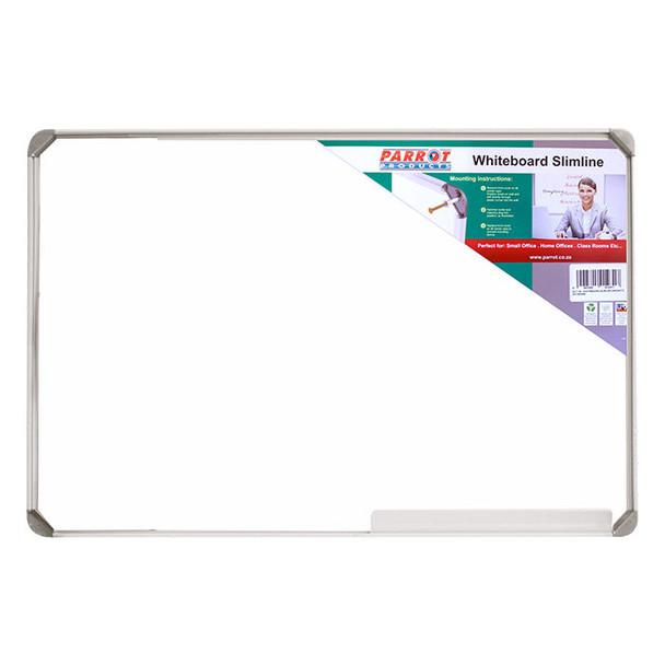 Slimline Non-Magnetic Whiteboard 600450mm