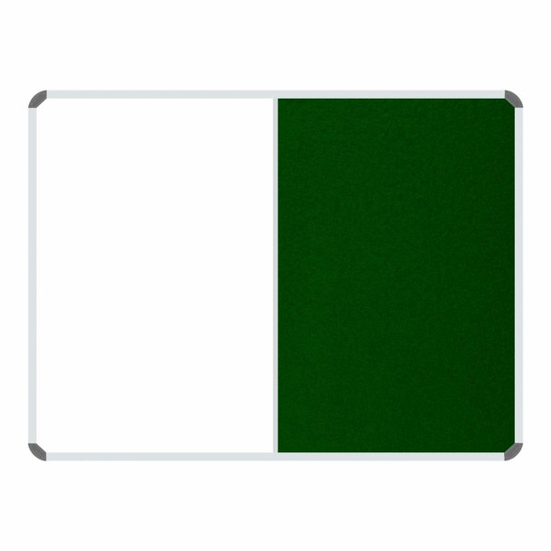 Non-Magnetic Combination Whiteboard 1200900mm - Green Felt
