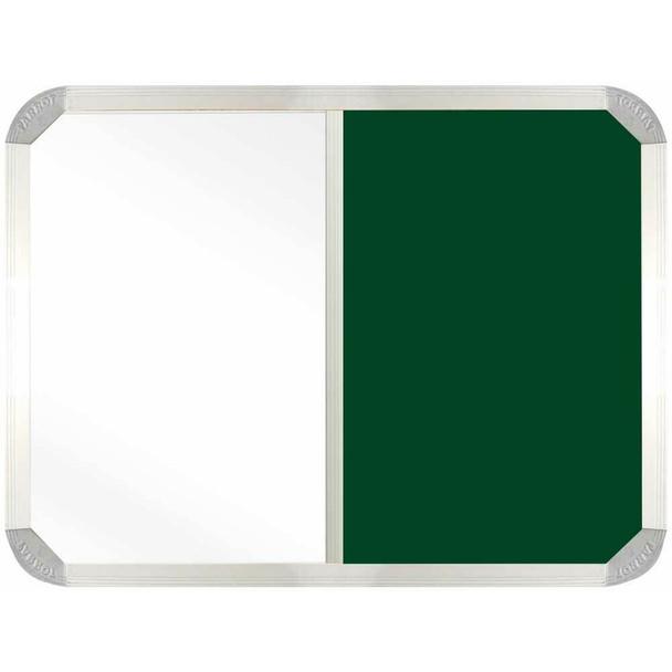 Non-Magnetic Combination Whiteboard 900600mm - Green Felt