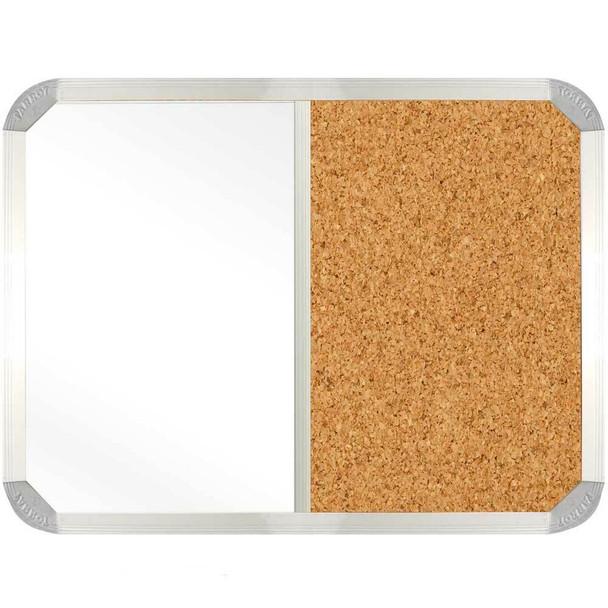 Non-Magnetic Combination Whiteboard 900600mm - Cork