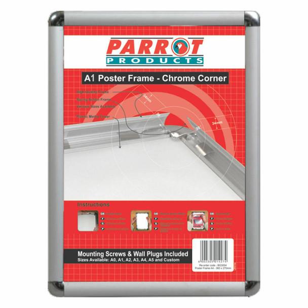 Poster Frame A1 - 900655mm - Chrome Corner