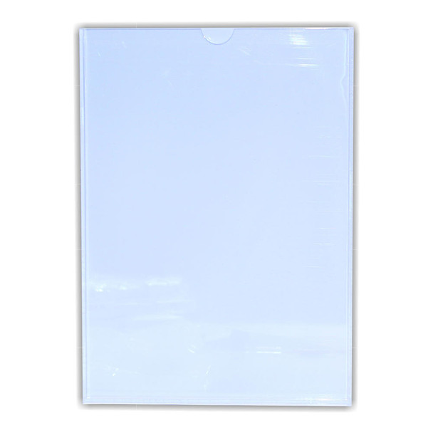Perspex Pocket Clear/White Backing A4