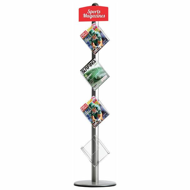 Novel Free Standing Leaflet Dispenser 4 x A4 Brochure Holders