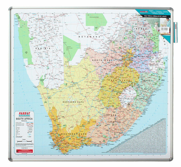 Map Board - South Africa 12301230mm - Magnetic White