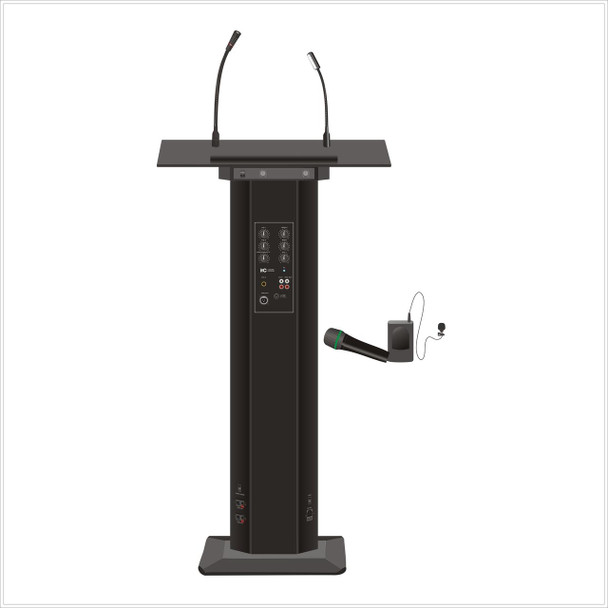 Lectern with wireless Microphone