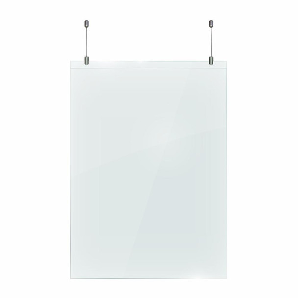Hanging Protective Screen 1250 x 900 x 2mm - Including Hanging Kit