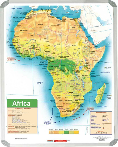 Africa General Educational Map 15001200mm
