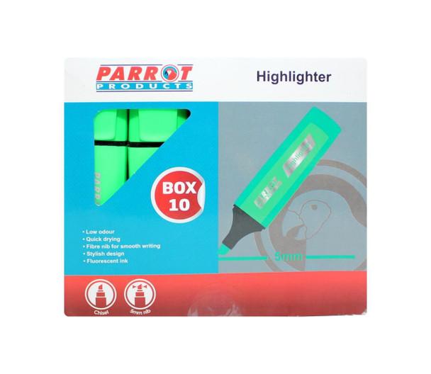 Highlighter Marker Box 10 Markers - Green