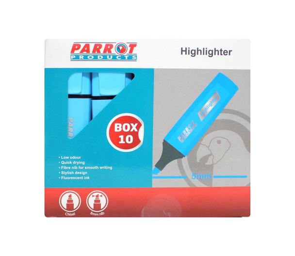 Highlighter Marker Box 10 Markers - Blue