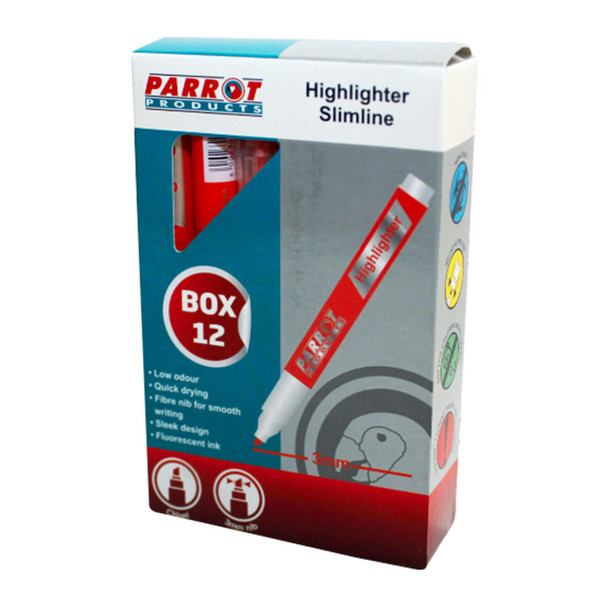 Slimline Marker Highlighters Box of 12 - Orange