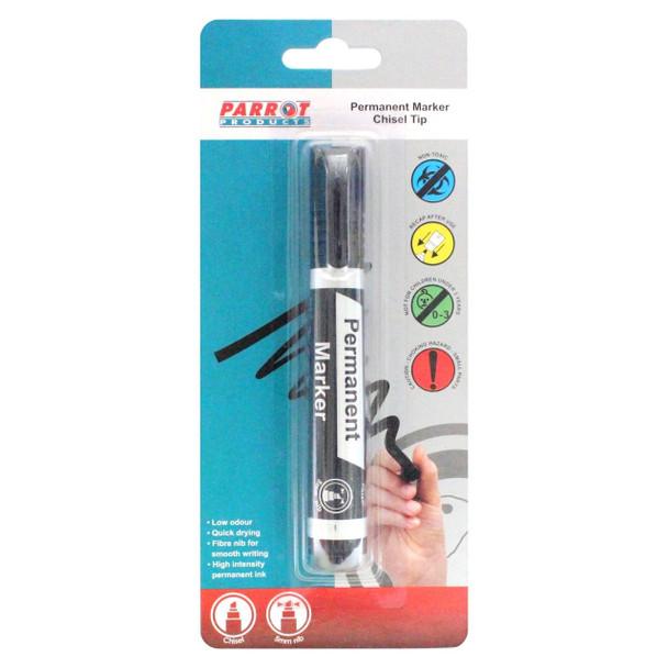Chisel Tip Permanent Marker Black