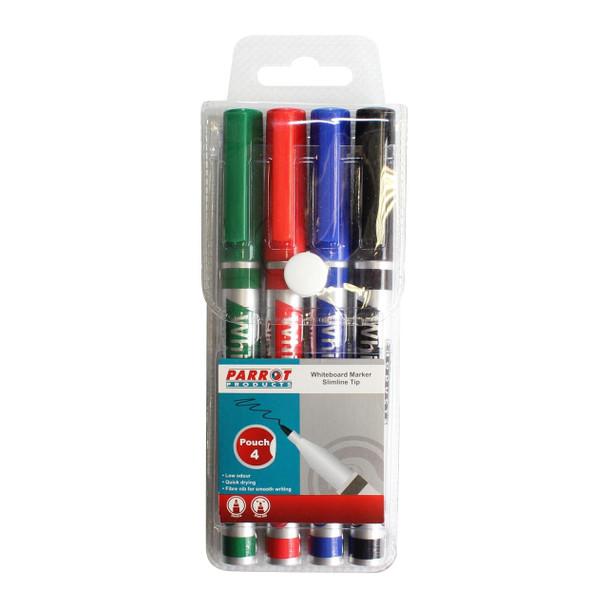 Whiteboard Marker Slimline Tip - Pouch 4