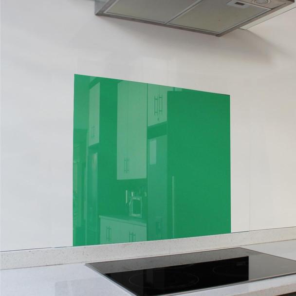Green Hob Splashback 598 x 650 x 6mm