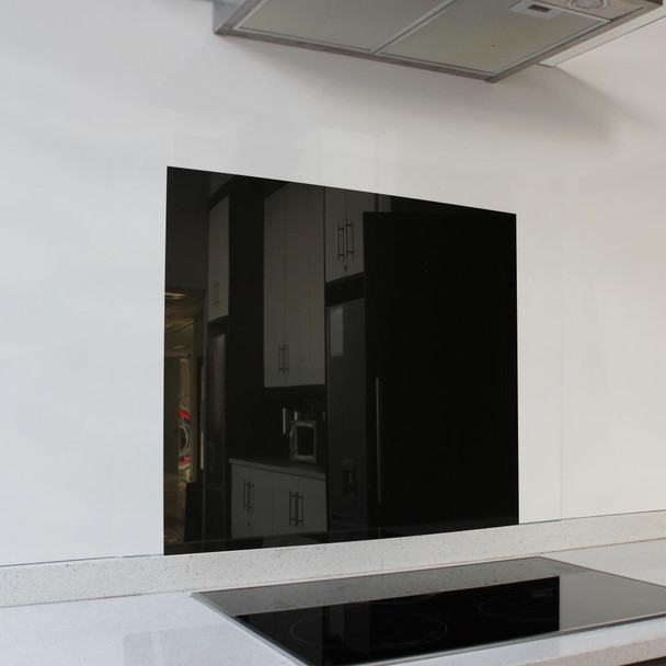 Metallic Black Hob Splashback 598 x 650 x 6mm
