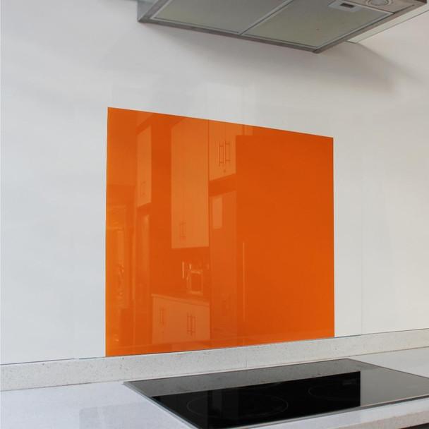 Orange Hob Splashback 598 x 650 x 6mm