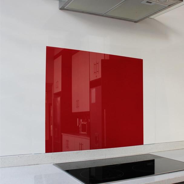 Red Hob Splashback 598 x 650 x 6mm