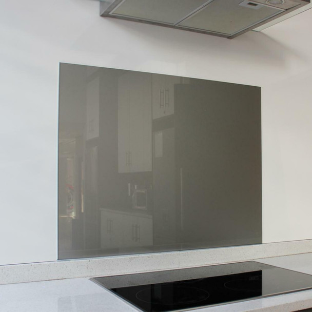 Metallic Silver Hob Splashback 898 x 700 x 6mm