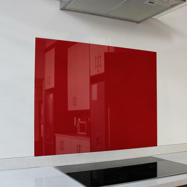 Red Hob Splashback 898 x 700 x 6mm