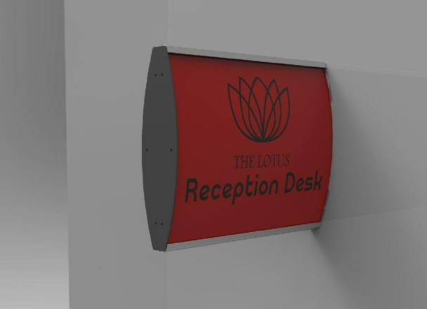 Sign Frame 100x300mm - Double Sided - Wall Mounted